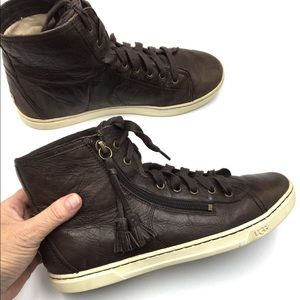 UGG Blaney Leather Hightop Sneakers
